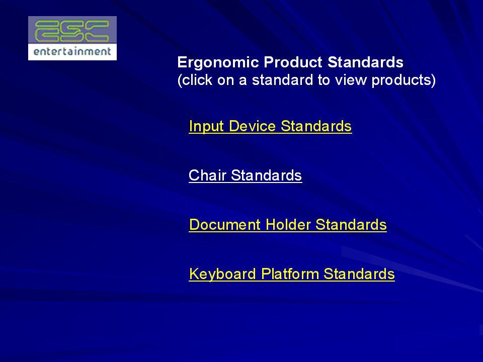 Define Ergonomics Goals Short Term Goals: (First 90 Days) Begin a Pilot Study Test all Ergonomic Software & Drivers with ESC Systems Create an Ergonomics Lab Establish a Pre-Approved Product Standard List