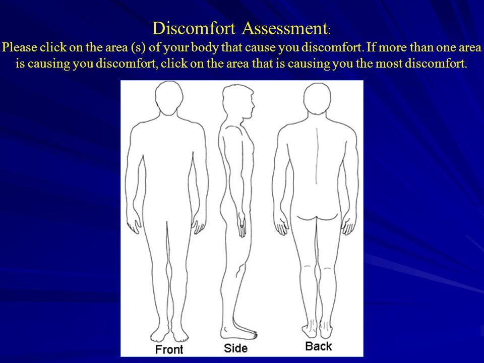 Online Discomfort Assessment