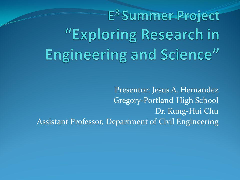 Presentor: Jesus A.Hernandez Gregory-Portland High School Dr.
