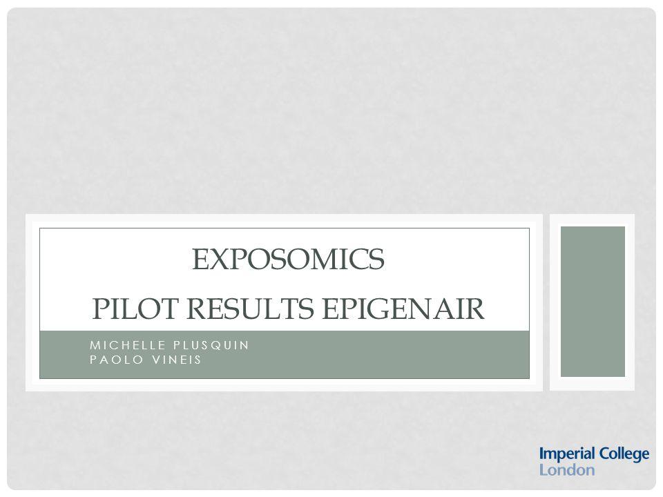 MICHELLE PLUSQUIN PAOLO VINEIS EXPOSOMICS PILOT RESULTS EPIGENAIR