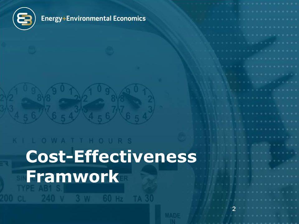 Cost-Effectiveness Framwork 2