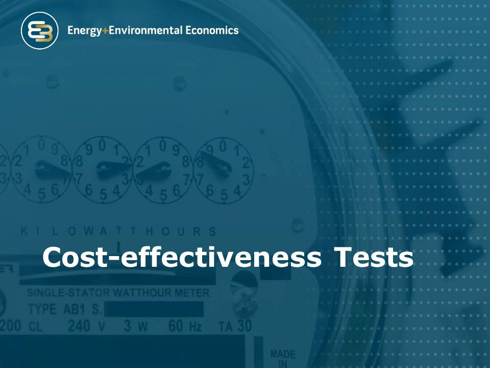 Cost-effectiveness Tests