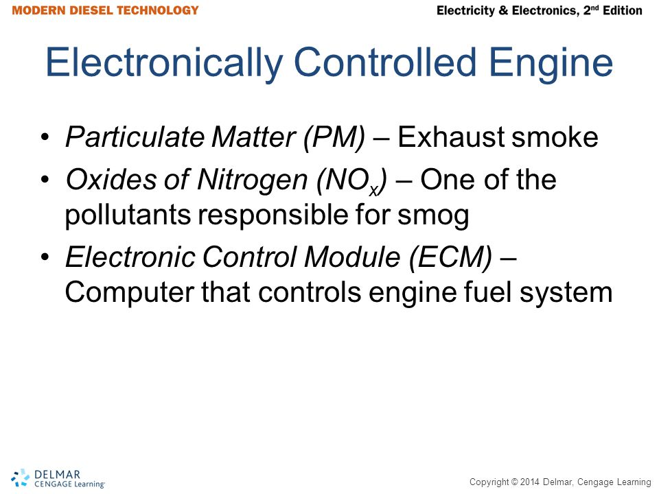 Copyright © 2014 Delmar, Cengage Learning Electronic Unit Pump (EUP) Figure 14-17 Electronic unit pump.