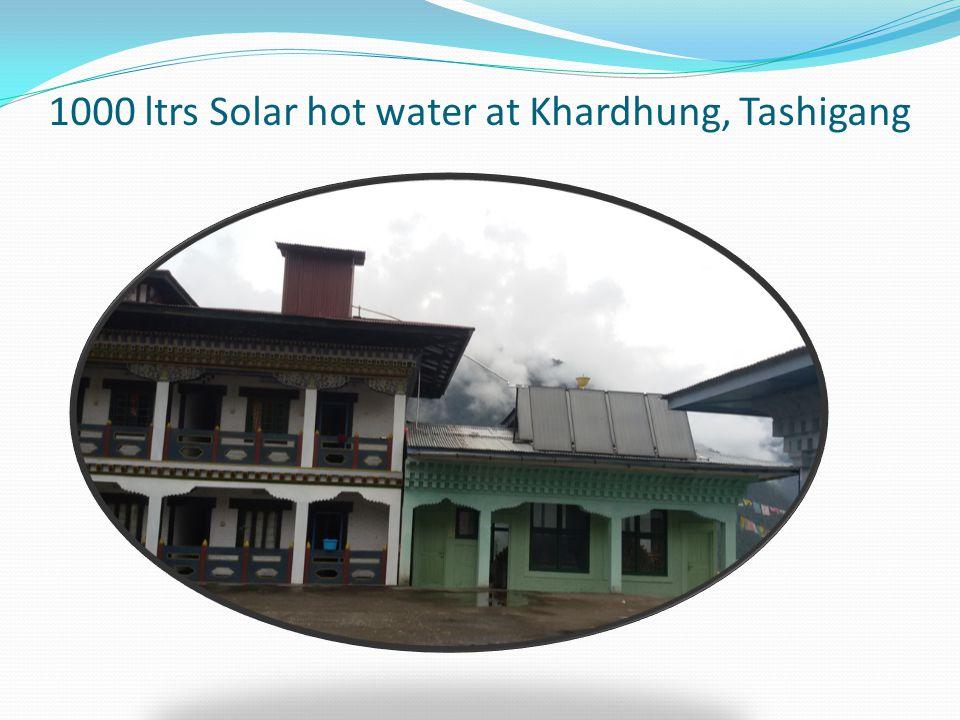 1000 ltrs Solar hot water at Khardhung, Tashigang