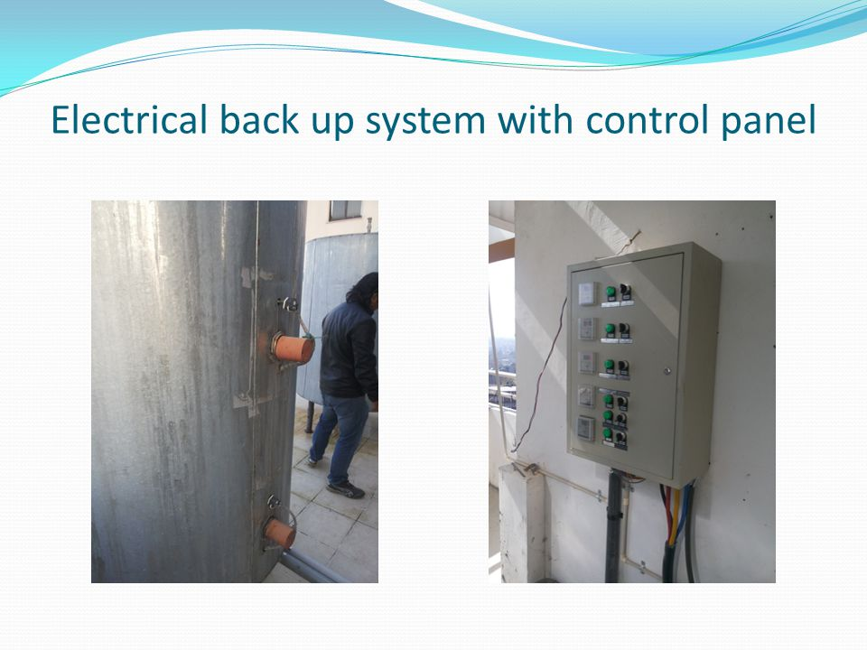 Electrical back up system with control panel