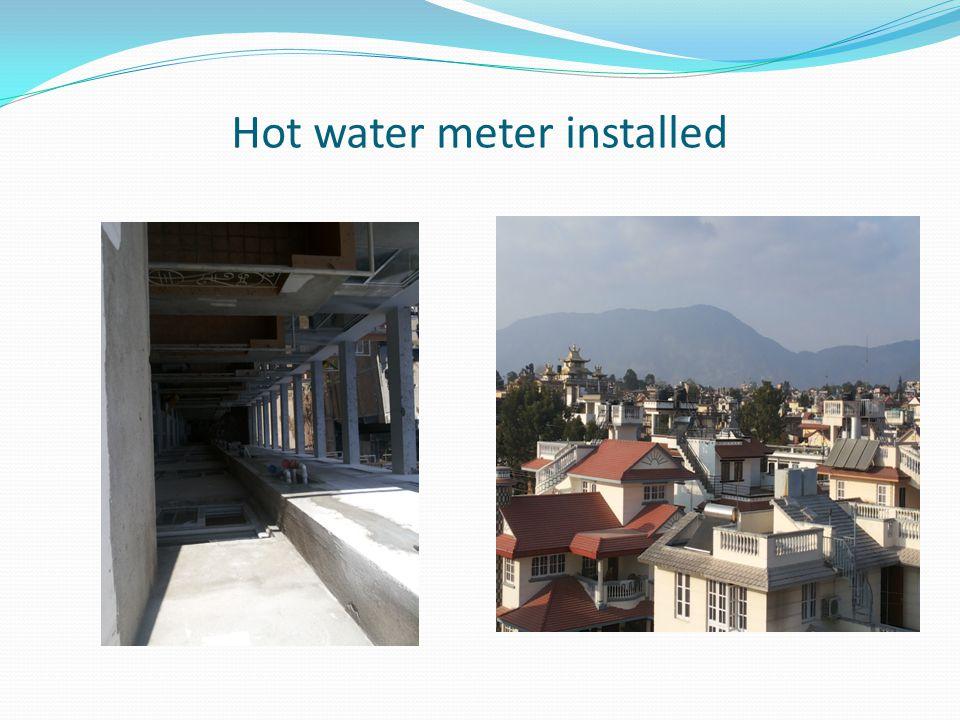 Hot water meter installed