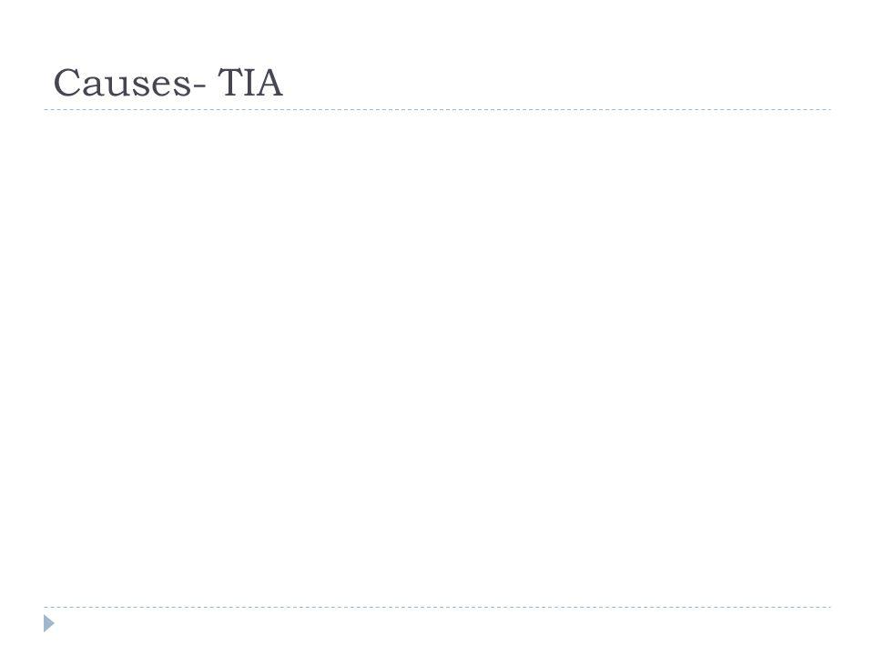 Causes- TIA