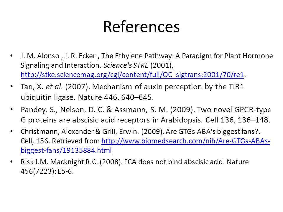 References J. M. Alonso, J. R.