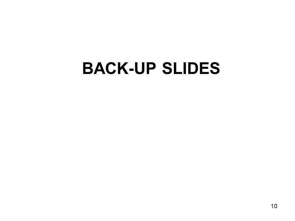 10 BACK-UP SLIDES
