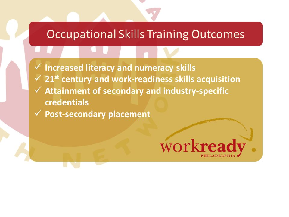 Increased literacy and numeracy skills 21 st century and work-readiness skills acquisition Attainment of secondary and industry-specific credentials P