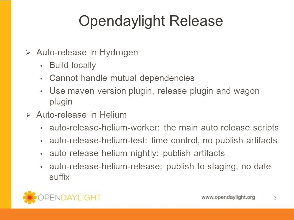 www.opendaylight.org  Moving to new infra, toolchains, etc.
