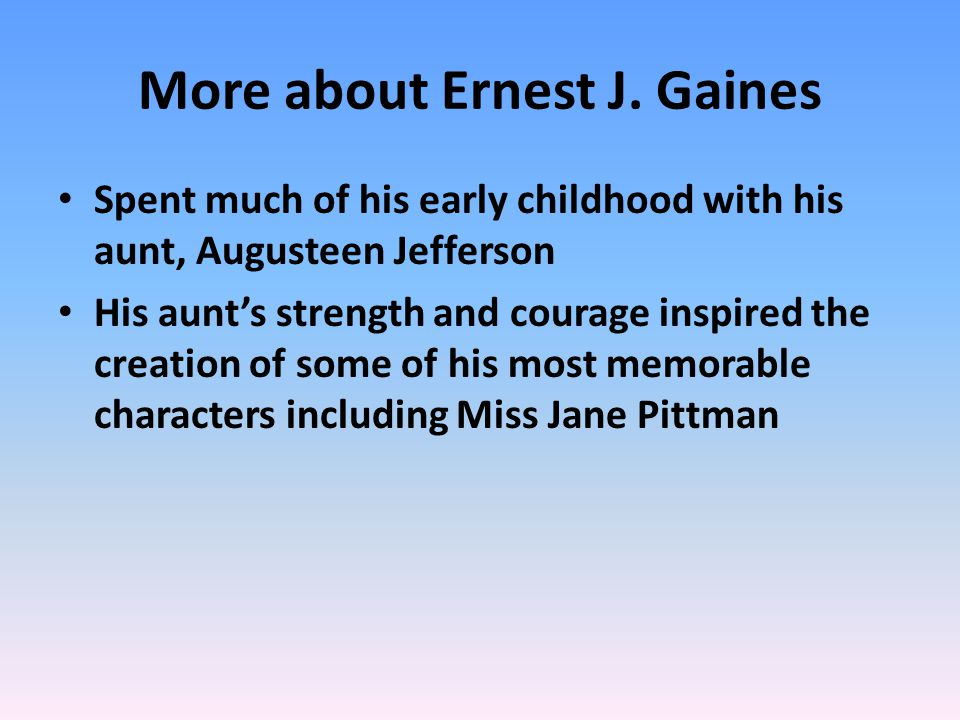 More about Ernest J.