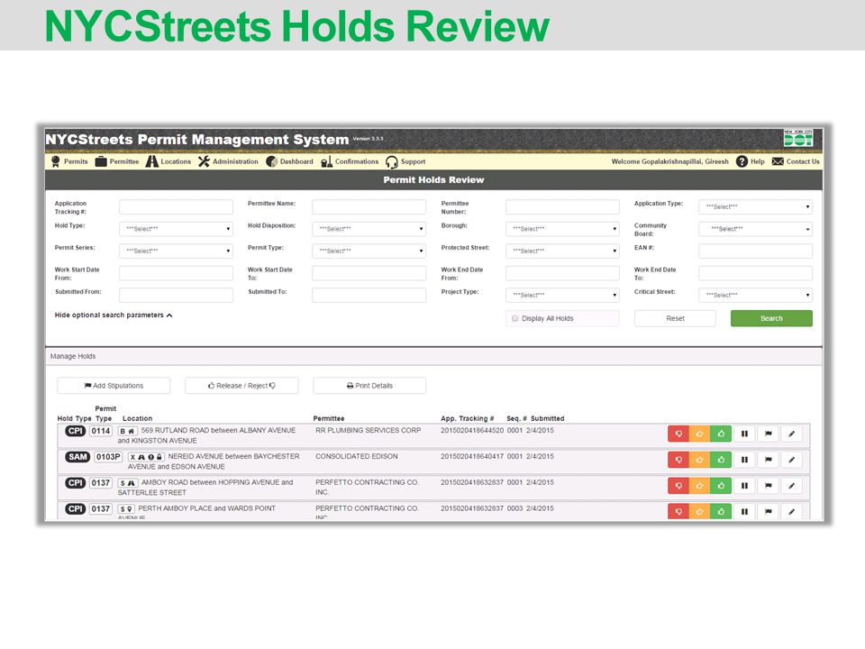 NYCStreets Holds Review