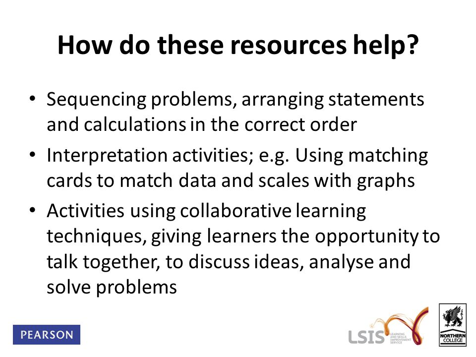 How do these resources help.
