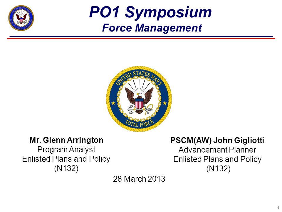 22 Force Management PO1 Symposium Mr.