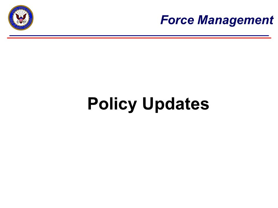 Force Management Current Authorities and Policies Enlisted Force Management ToolsIn Use  AccessionsY  Promotion / Advancement opportunityY  Temporary Early Retirement Authority (TERA)*N  Perform-to-Serve (PTS)Y  High Year TenureY  Senior Enlisted Continuation Board (E7-E9)Y  Selected Early Voluntary Separation*N  Time in Rate Waivers (TIR)Y  Enlisted Retention Board (ERB)N  Selective Reenlistment Bonuses (SRB)Y * TERA was only used for ERB sailors with over 15 YOS prior to 01SEP12 * Selected Early Voluntary Separation policies withdrawn, except for 90-day early outs 10 We've made some hard choices over the past few years, these hard choices have contributed to significant progress in balancing the force, which is resulting in greater retention approvals in PTS and improvements in advancement opportunity… Vice Adm.
