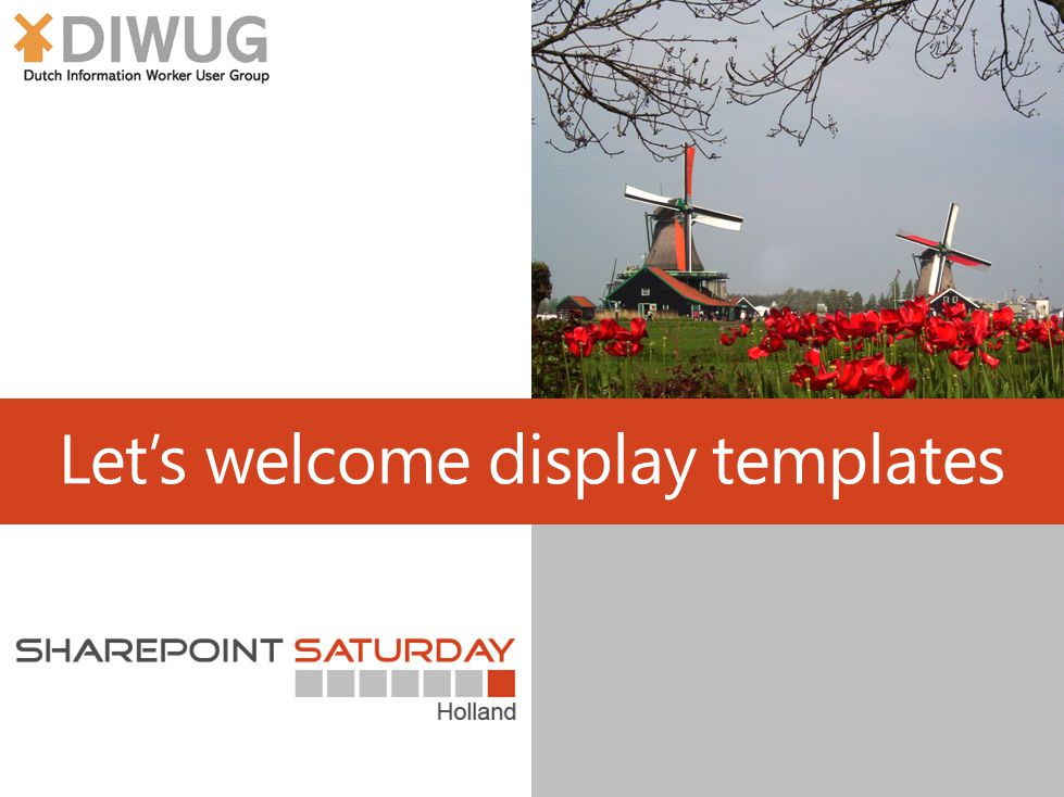 Let's welcome display templates
