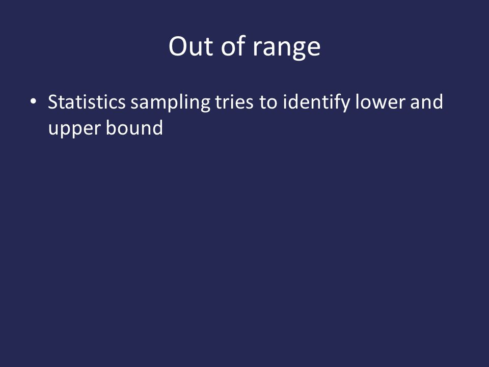 Out of range Statistics sampling tries to identify lower and upper bound