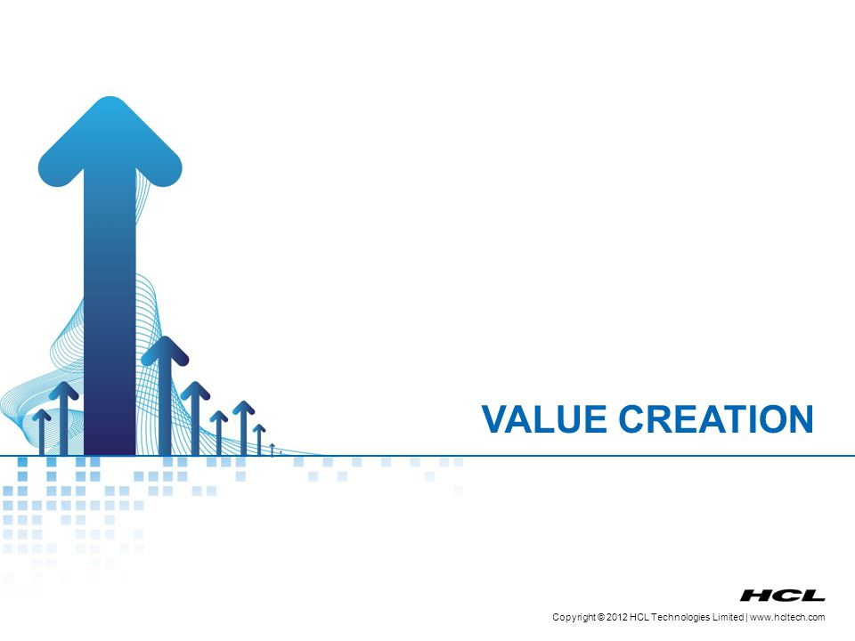 Copyright © 2012 HCL Technologies Limited | www.hcltech.com Structured Value Creation Process Workflow Enabled via Value Portal & Customer Portal Generator Value Council Customer Generator Project Manager Customer Customer Approval Customer Feedback/ Rating of Idea After Internal Review o f Idea After Customer Approval of Idea After Implementation of Idea Customer Portal Value Portal Ideate ReviewApproval Implement the Idea Case Study Upload 9