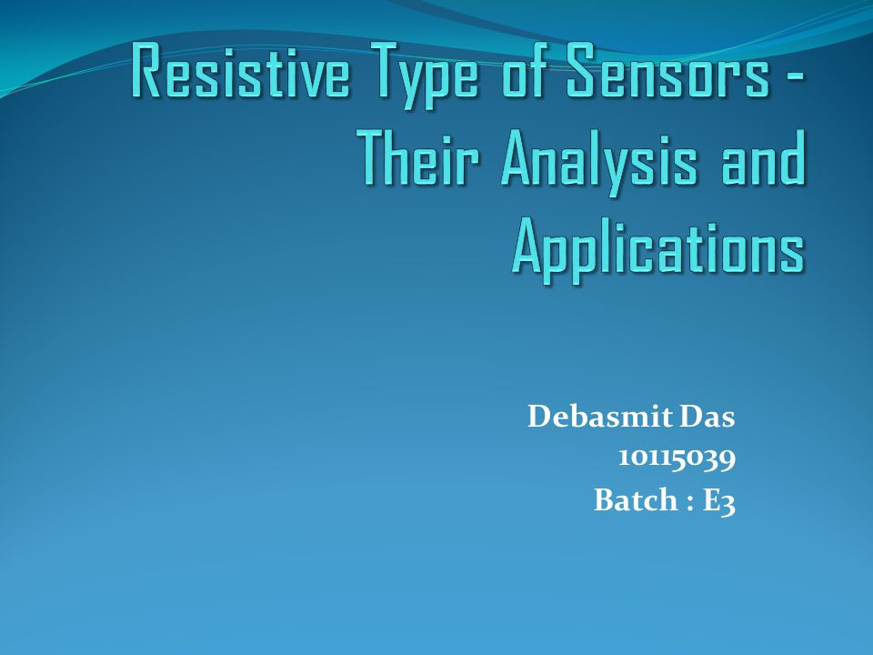Temperature Variation of Resistive Sensors