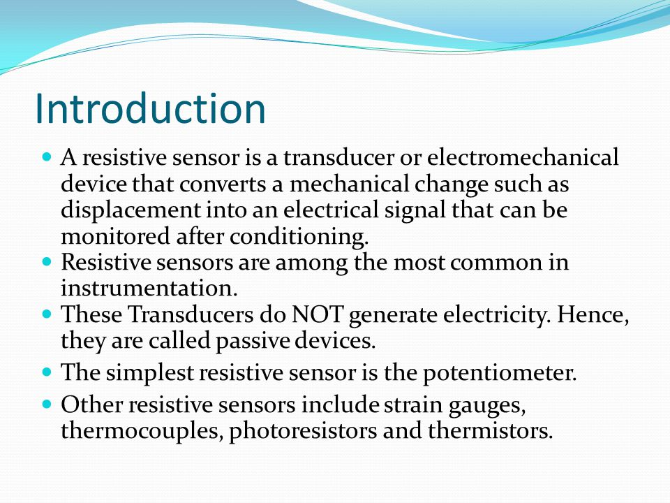 Light Dependent Resistor The light dependent resistor consists of a length of material (cadmium sulphide) whose resistance changes according to the light level.