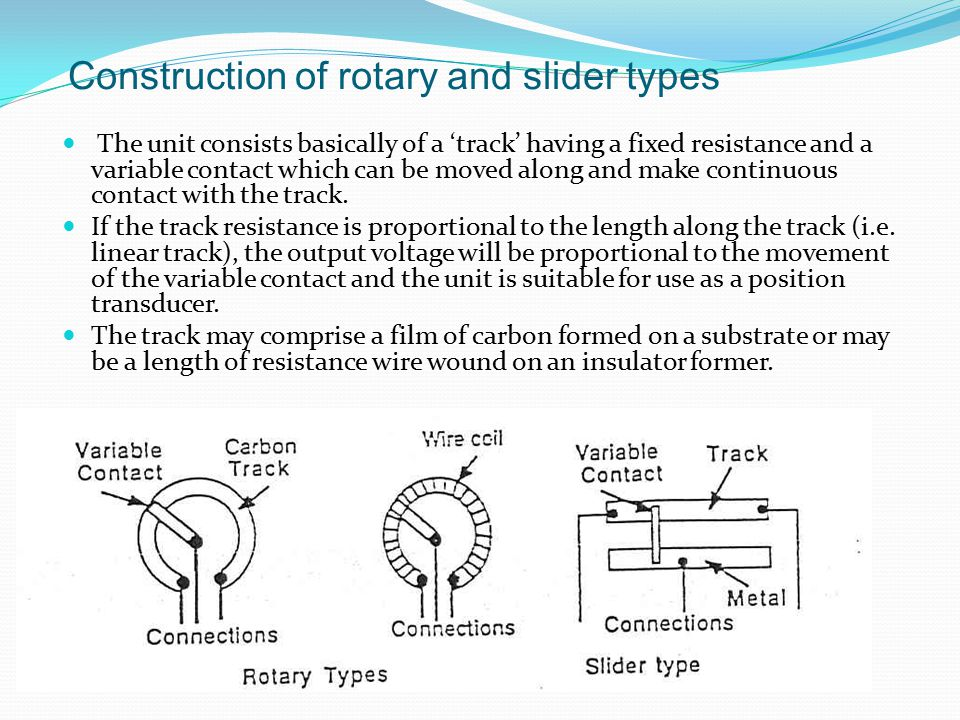 Applications: Potentiometer The Potential divider is the most obvious application.