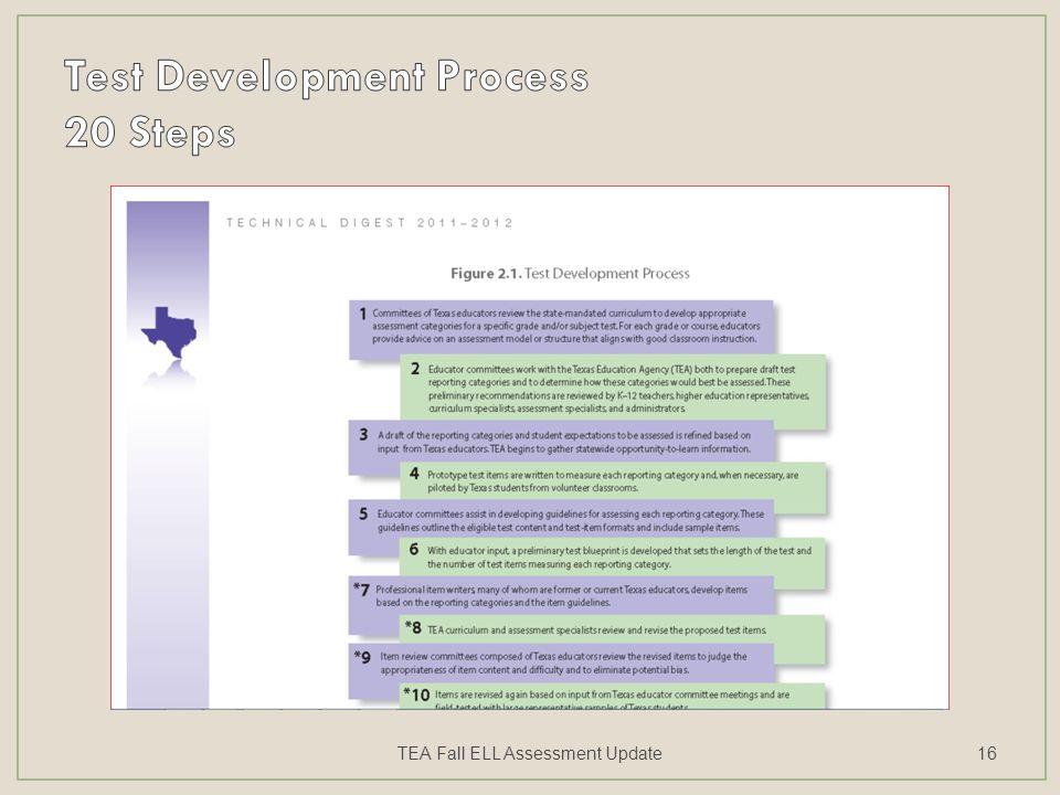 TEA Fall ELL Assessment Update16