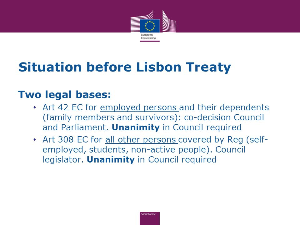 Already existing impact of EU law on bilateral agreements Reg 1231/2010: extension scope of Reg 883/2004 to third country nationals (TCN s) Very existence of Reg 1231/2010 gives EU exclusive competence as regards social security coordination for TCN s in cross-border situation within EU