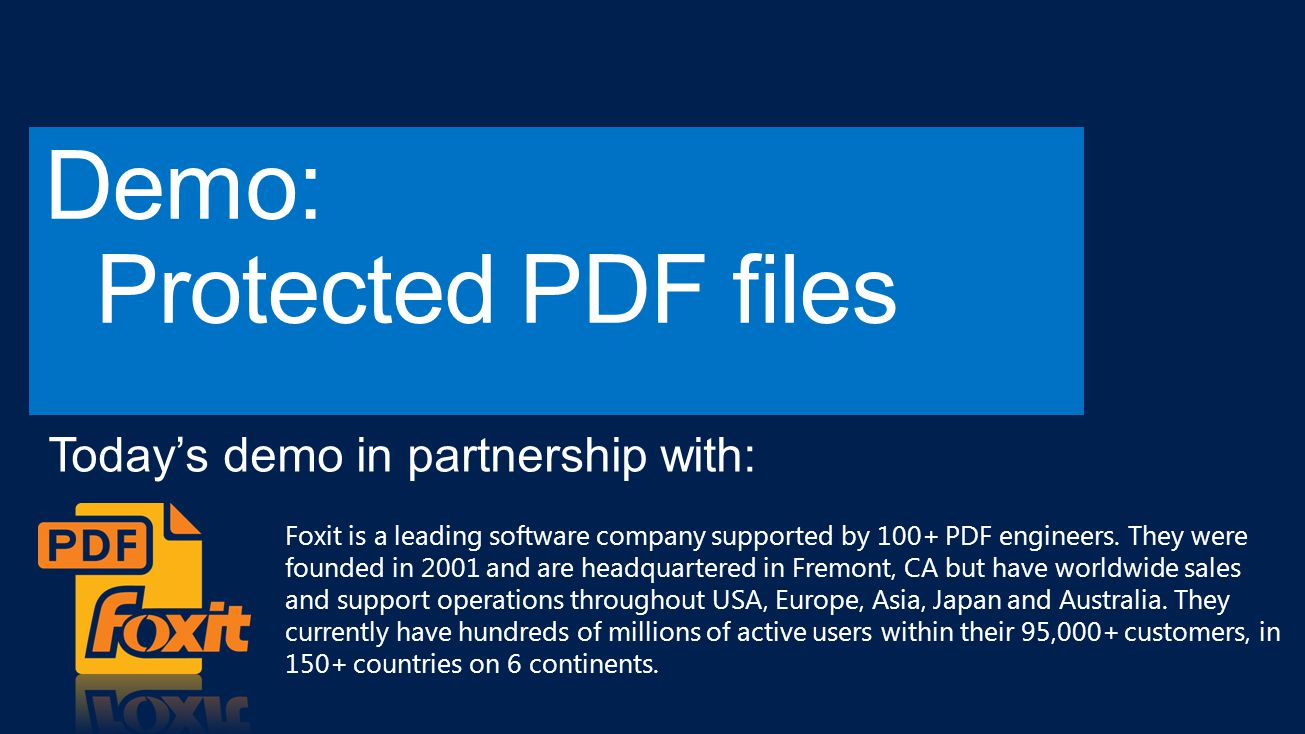 Foxit is a leading software company supported by 100+ PDF engineers.