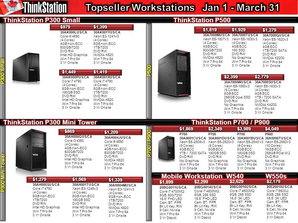 $1,899 20BG0011US/CA Core i7 4700MQ 8GB, 500/7200 15.6 FHD LED Cam, BT, FPR Bk Lit Key, RW 9 Cell, Nvidia Win 7 Pro 64 3 Yr Depot $2,299 20BG0014US/CA Core i7 4800MQ 8GB, 256 SSD 15.6 FHD LED Cam, BT, FPR Bk Lit Key, RW 9 Cell, Nvidia Win 7 Pro 64 3 Yr Depot $2,629 20BG0016US/CA Core i7 4800MQ 8GB, 256 SSD 15.6 3K LED Cam, BT, FPR Bk Lit Key, RW 9 Cell, Nvidia Win 7 Pro 64 3 Yr Depot