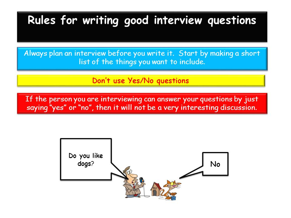 Always plan an interview before you write it.
