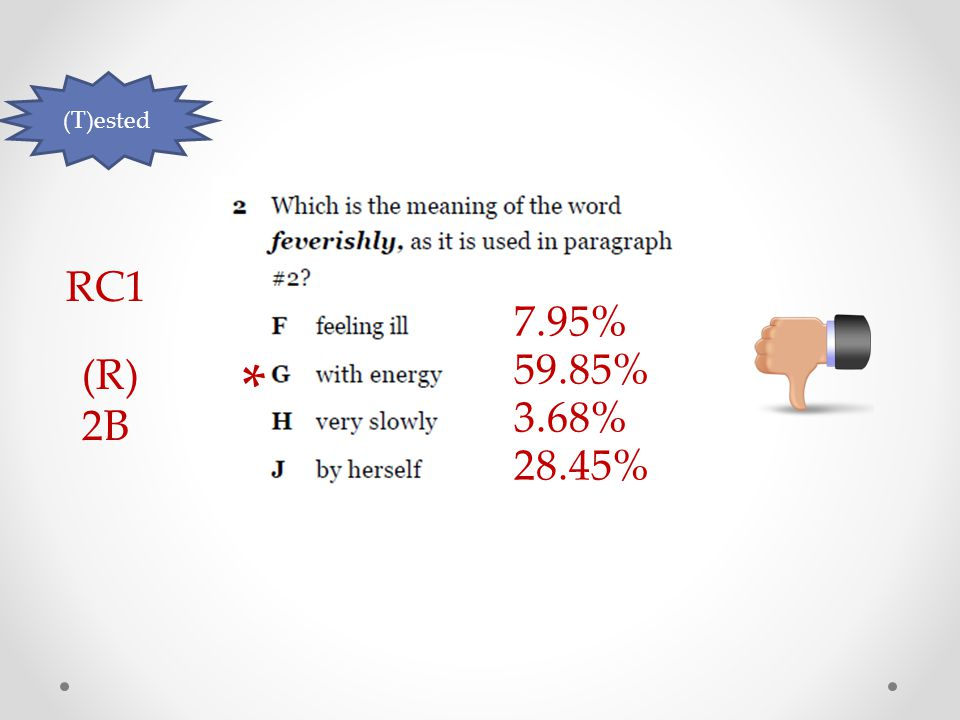 (T)ested RC1 (R) 2B 7.95% 59.85% 3.68% 28.45% *