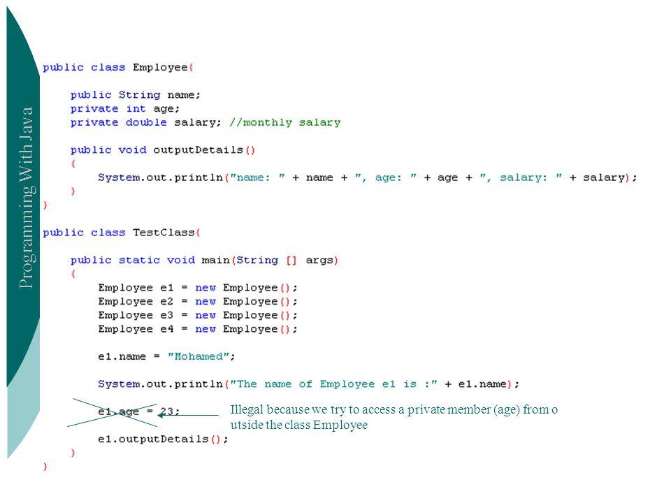 Programming With Java ICS201 Problem..