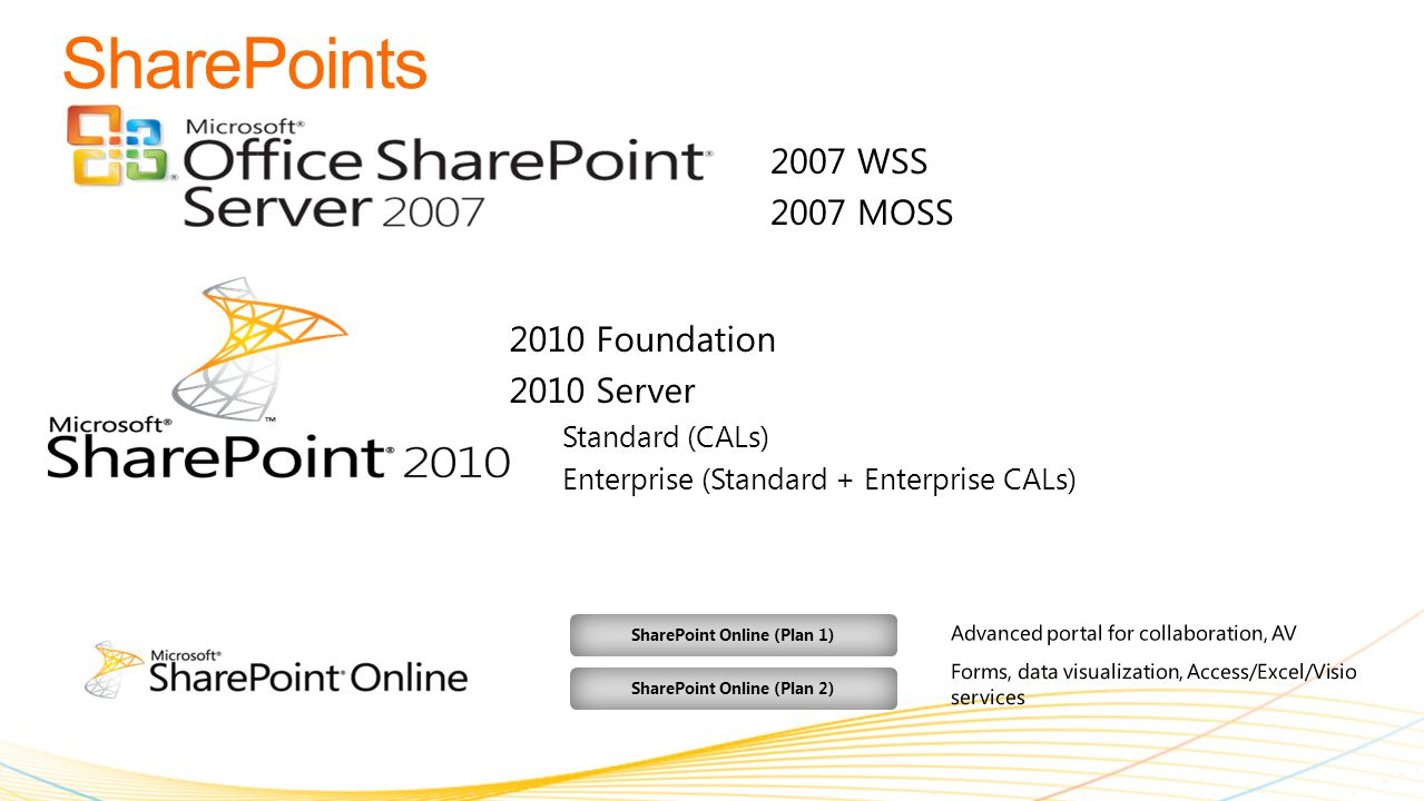 Access Services Visio Services Out of the Box WorkFlows SharePoint Designer Customizations (Free)