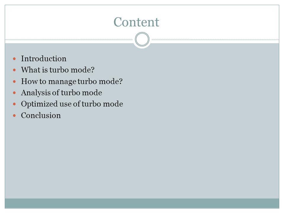 Introduction Optimizing the use of turbo mode in multi-core chips.