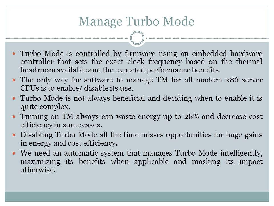 Offline Classifier Training The online component of auto turbo uses models that are generated offline for the various metrics.