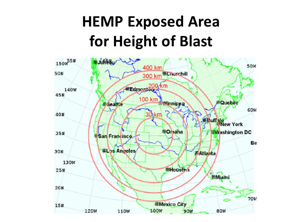 HEMP Exposed Area for Height of Blast