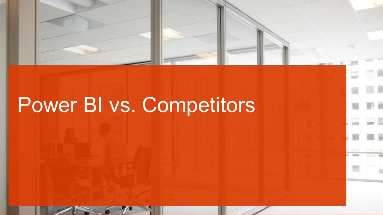 Power BI vs. Competitors