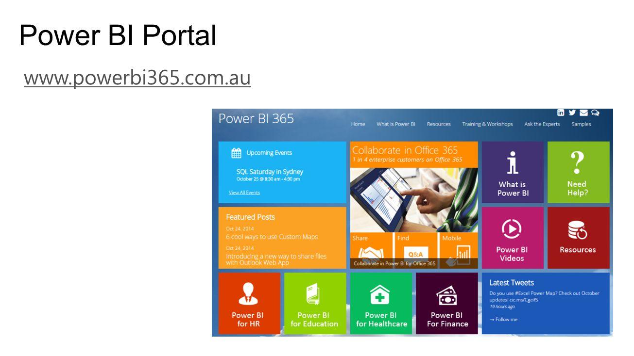 Power BI Portal www.powerbi365.com.au