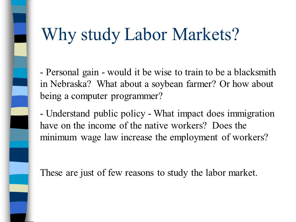 Who are the actors in labor markets.