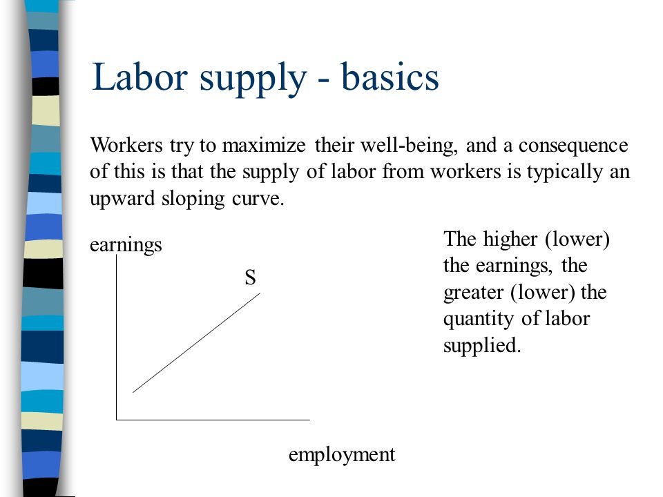 Labor demand - basics Firms try to maximize their profit, and a consequence of this is that the labor demanded by firms is typically a downward sloping curve.
