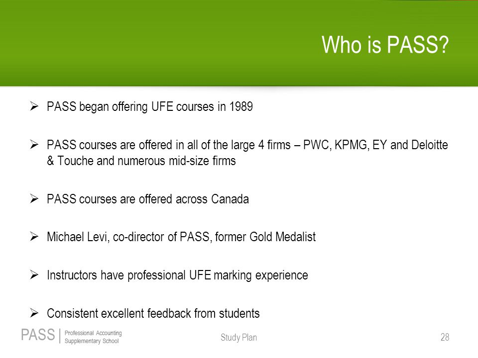 PASS | Professional Accounting Supplementary School Professional Accounting Supplementary School Who is PASS.