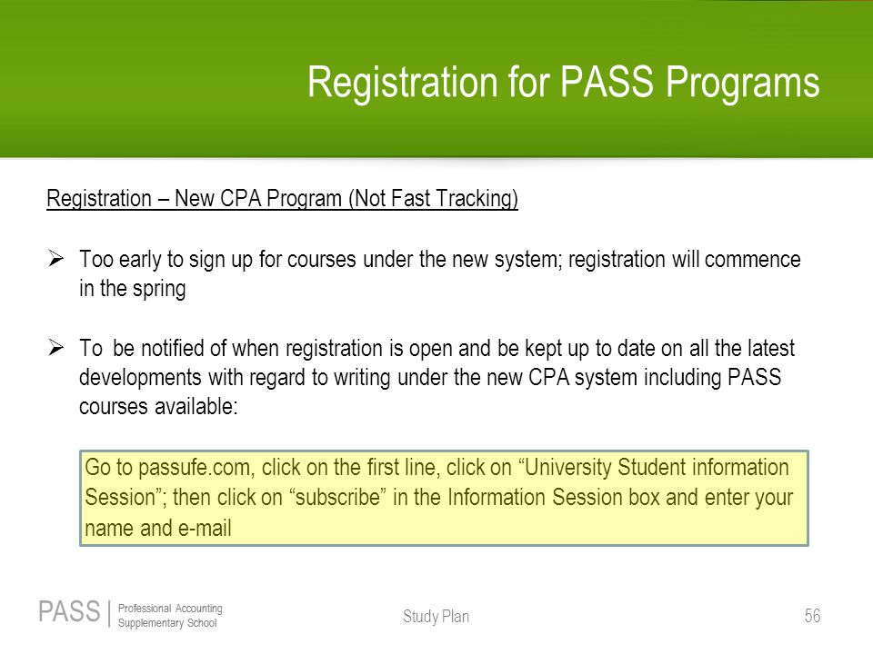 PASS | Professional Accounting Supplementary School Professional Accounting Supplementary School Registration for PASS Programs Registration – New CPA