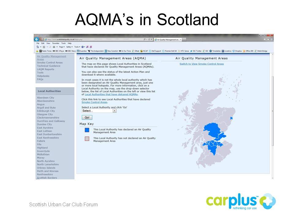 AQMA's in Scotland Scottish Urban Car Club Forum