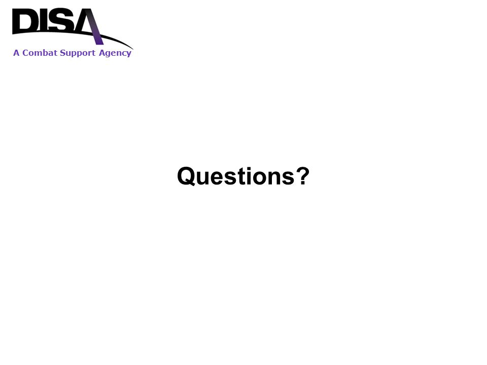 A Combat Support Agency Questions?