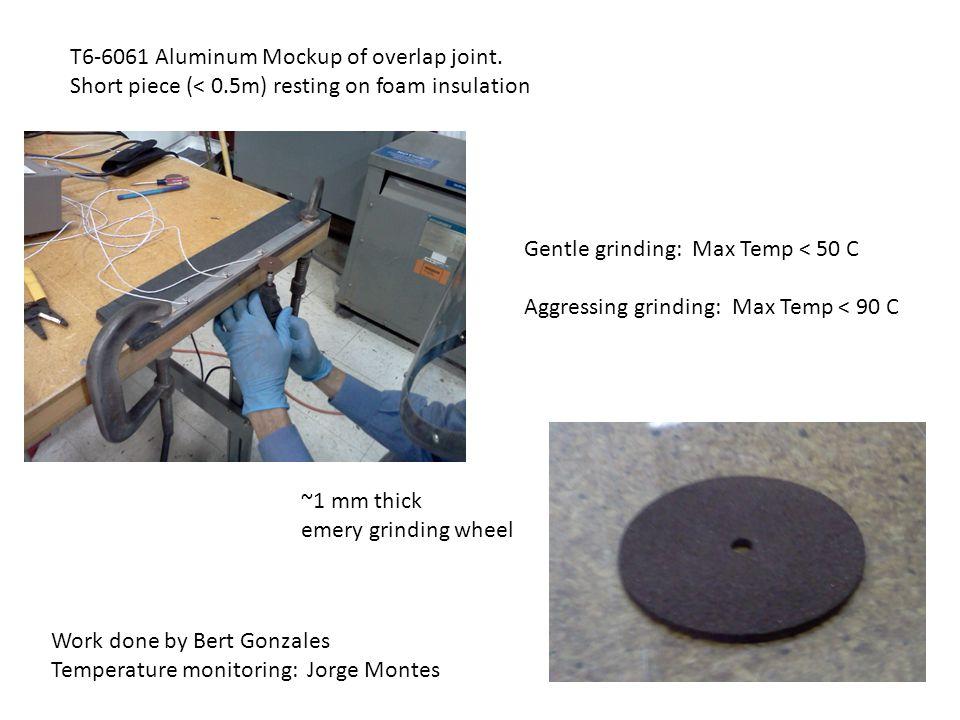 T6-6061 Aluminum Mockup of overlap joint.