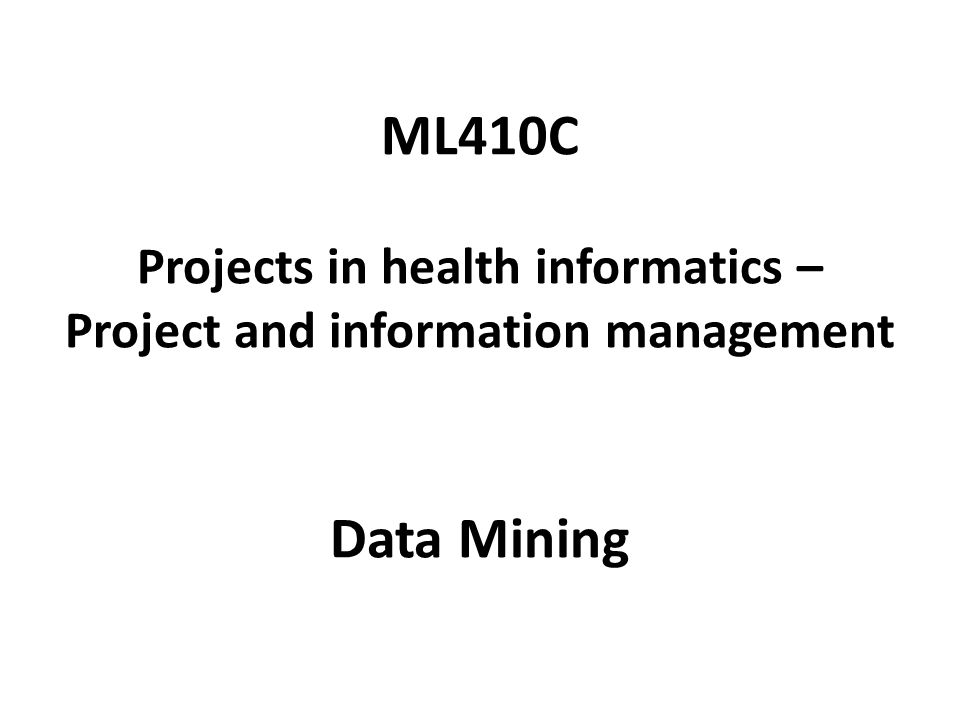 Last time… Why do we need data analysis.What is data mining.