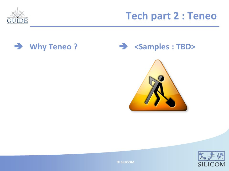© SILICOM Tech part 2 : Teneo  Why Teneo 