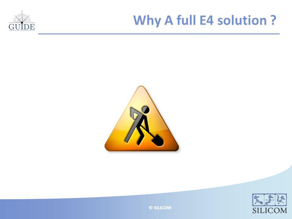 © SILICOM Why A full E4 solution
