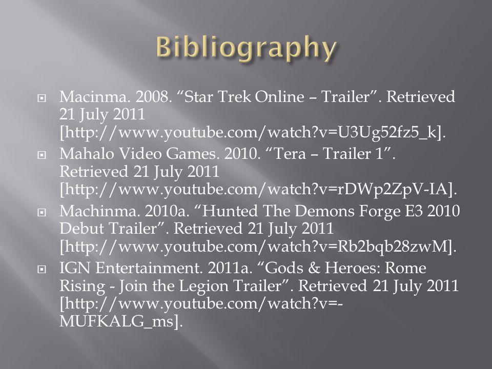  Macinma. 2008. Star Trek Online – Trailer .